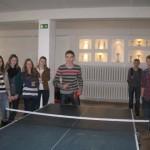 5-8 klasių mokinių stalo teniso turnyras