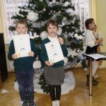 """2b klasės mokiniai dalyvavo Kalėdinėje popietėje """"Sutikim Kalėdas baltai išrašytas"""""""