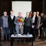 Aštuntokai susitikime su Vytautu Landsbergiu