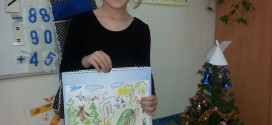 Visuomenės sveikatos biuro išleistame kalendoriuje – 1d klasės mokinės Augustės piešinys