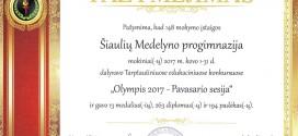 Olimpis padėka