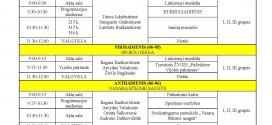"""STOVYKLOS """"SPALVOTOS ATOSTOGOS KŪRYBINĖSE DIRBTUVĖSE III"""" VEIKLŲ PLANAS"""