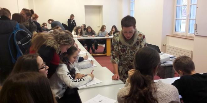 Mokiniai vyko į Prancūzų institutą Vilniuje