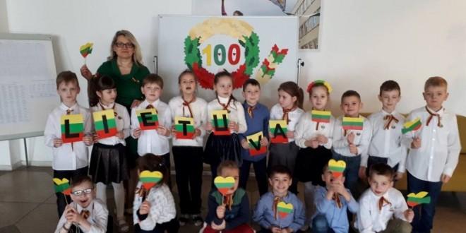 Priešmokyklinio ugdymo grupės veiklos, skirtos atkurtos Lietuvos šimtmečiui paminėti