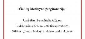 Maltos ordino pagalbos tarnybos padėka