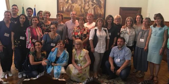 """Tarptautinio projekto Erasmus+ """"My Little Europe""""  vizitas Portugalijoje"""