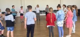 5A klasės mokinius su aktoriaus profesija supažindino Monika Šaltytė